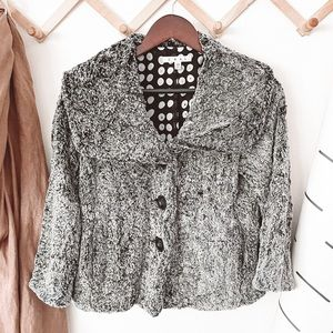 CAbi #626 Chinchilly Faux Fur Button Down Jacket